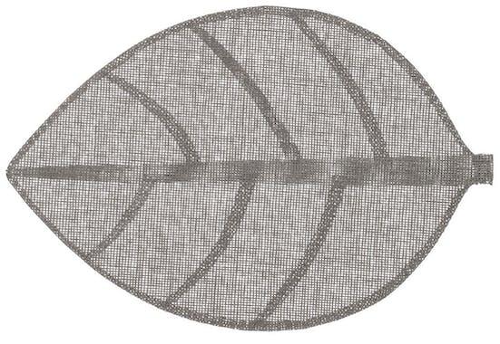 Set de table forme feuille 50 x 33 cm  Gris