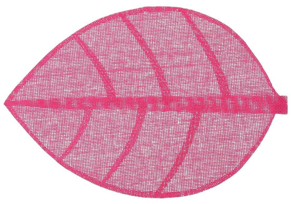 Set de table forme feuille 50 x 33 cm  Gris Framboise