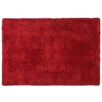 Tapis doux microfibre à poils longs 120 x 170 cm  Rouge