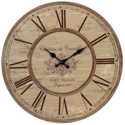 Horloge murale en bois style Rétro D 45 cm - Décor Château de Versailles