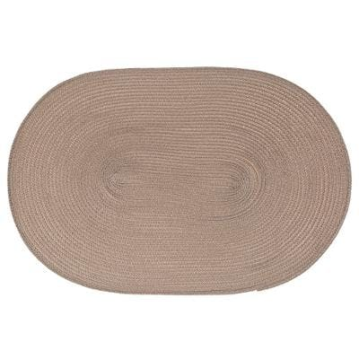 Set de table tressé oval taupe 29x44cm
