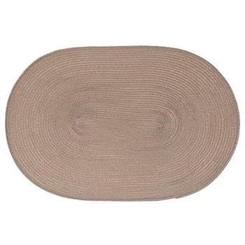 Set de table tressé oval taupe 29x44cm