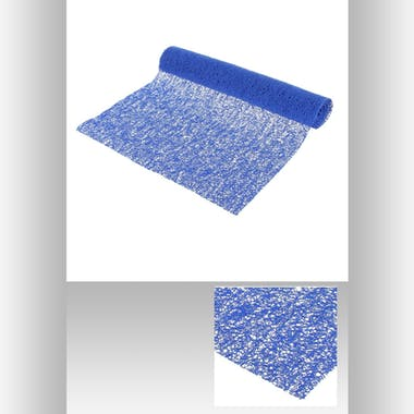 Chemin de table spaghetti  38 x 140 cm Bleu