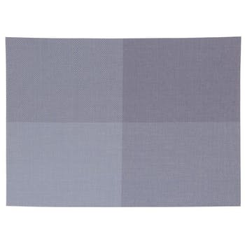 Set de table texaline rectangle 50 x 35 cm à carreaux Bleu et Gris