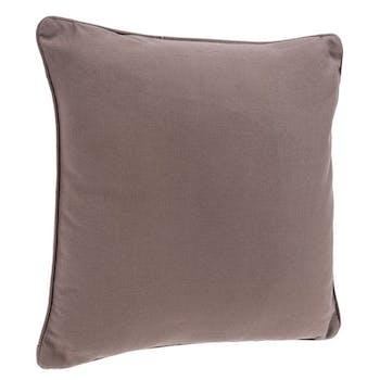 Coussin passepoil en coton lin 45x45cm
