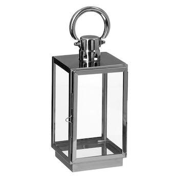 Lanterne inox verre petit modèle réf. 20064239