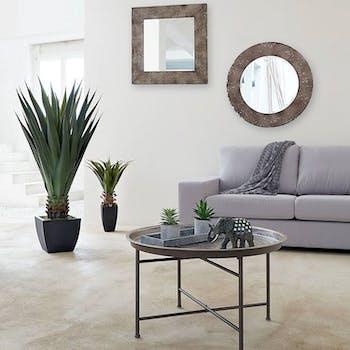 Table basse ronde métal style oriental