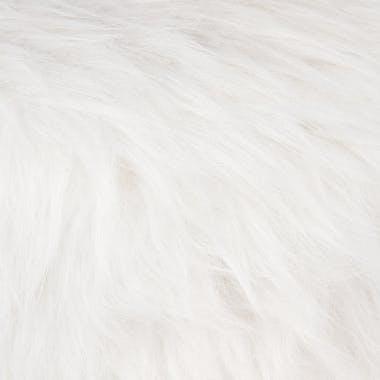 Tabouret fourrure blanche synthétique
