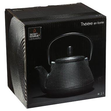 Théière ronde 1L en Fonte noire avec filtre