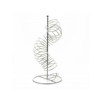 Colonne à fruits forme spirale en métal chromé