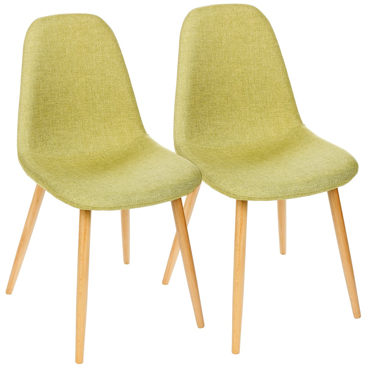 Lot de 2 Chaises inspiration Scandinave couleur anis pieds hêtre 45X53X86