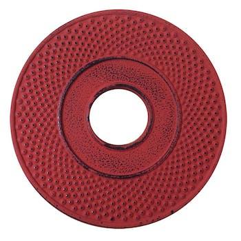 Repose théière en fonte rouge D13cm