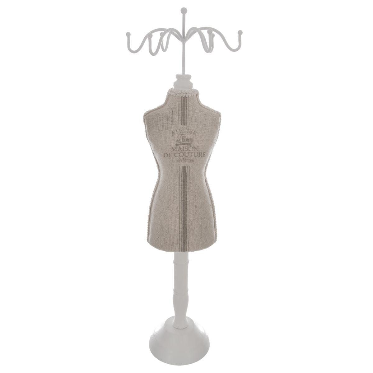 """Mannequin Porte Bijou """"Atelier Maison de Couture"""" 14x14x50cm"""