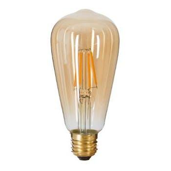 Ampoule vintage ambré D6xH14cm