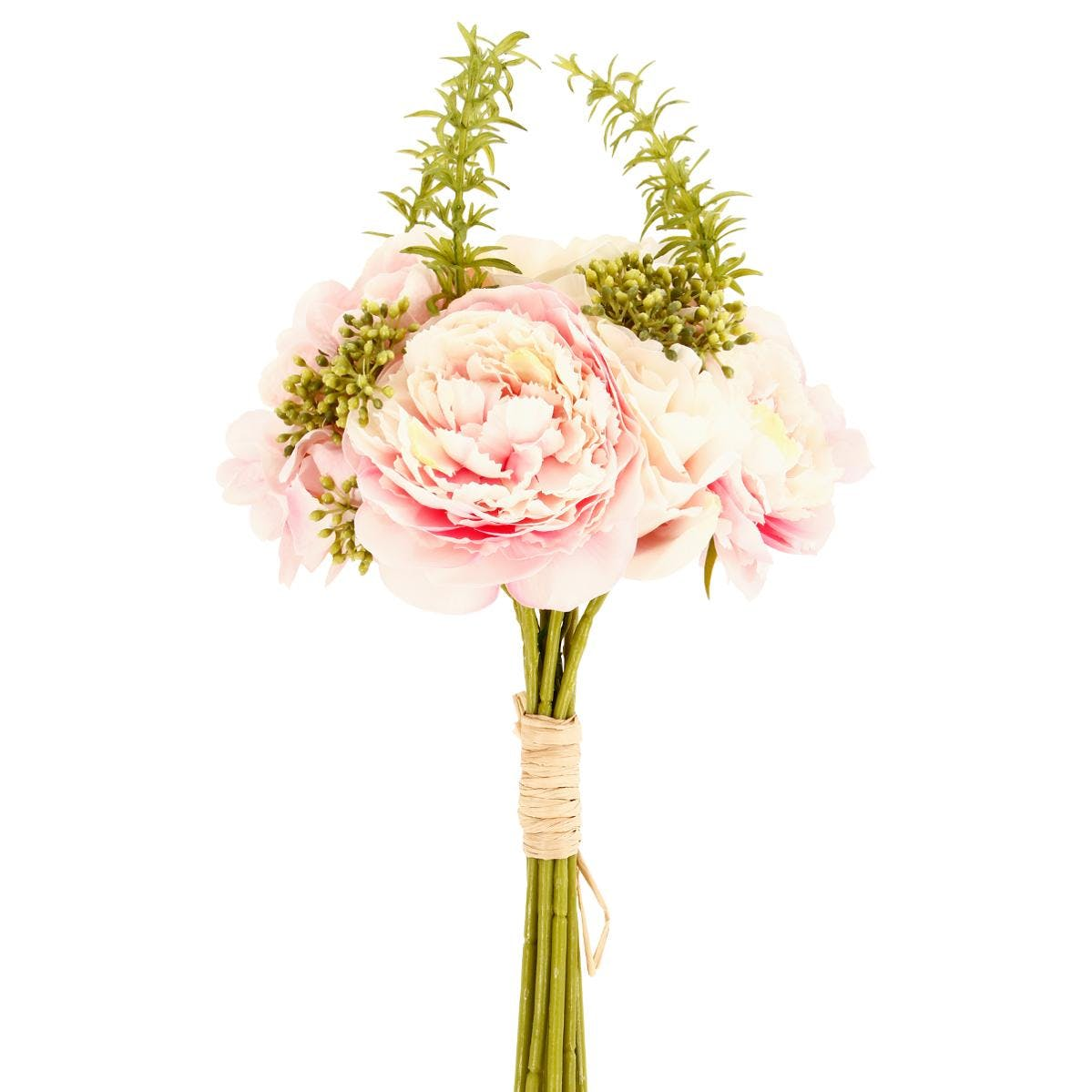 Bouquet de fleurs rose D20xH35cm