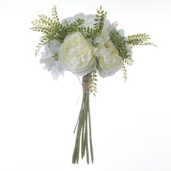 Bouquet de fleurs blanches D20xH35cm