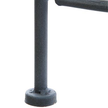 Etagère d'angle salon métal gris 4 niveaux