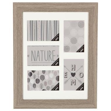 Cadre Pêle-Mêle 5 vues en bois naturel 36,4x46,4cm