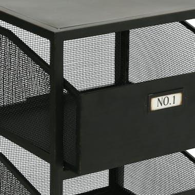 Chiffonnier industriel en métal 4 tiroirs numérotés 34x31x90cm ATELIER