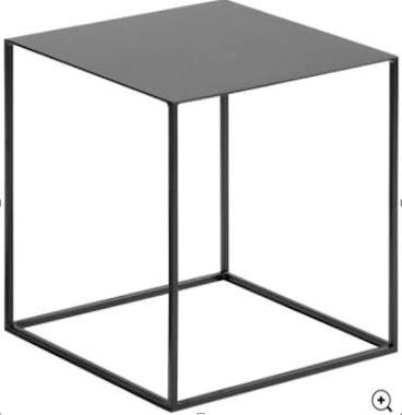 Table d'appoint carrée en métal et acier 40x40cm