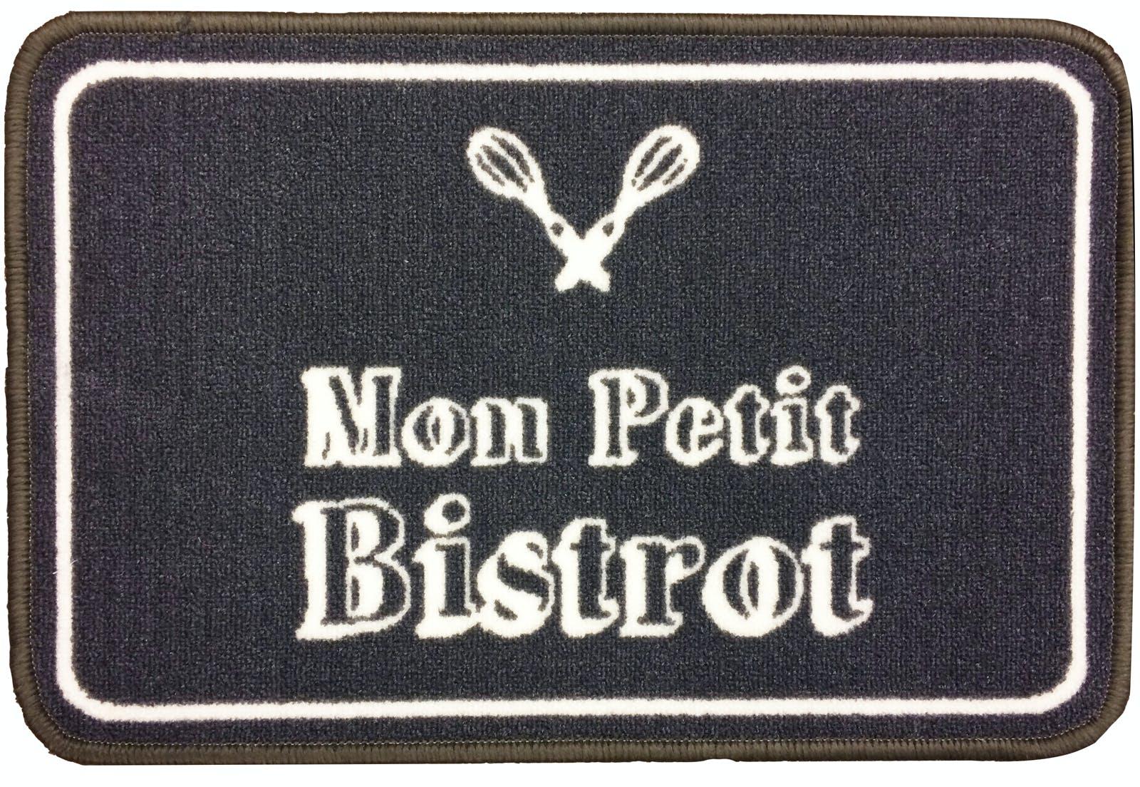 "Tapis de cuisine ""Mon petit bistro"" 40x60cm"