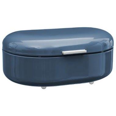 Boite à pain en métal bleu avec clapet 40x25xH16cm