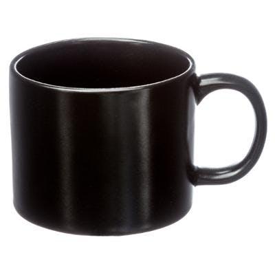 Tasse ronde en porcelaine mat noire 25cL D8xH7cm