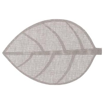 Set de table forme feuille couleur gris clair 50x33cm