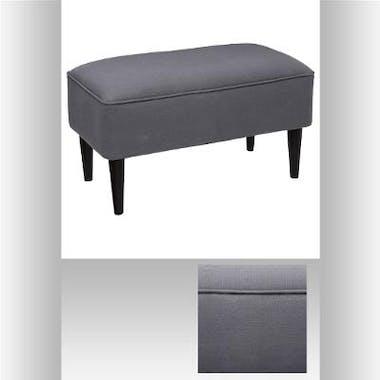 Banc / Bout de lit en tissu gris clair 70x38xH38cm