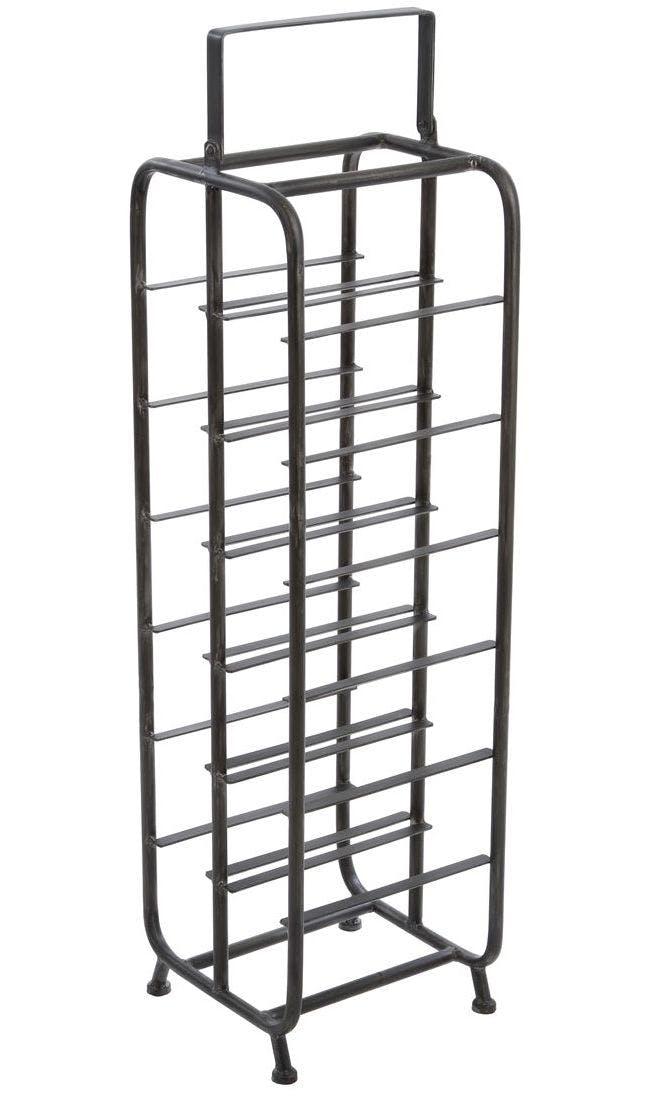Porte-Bouteille 6 étages en métal gris foncé 24x23x88,5cm