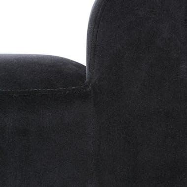 Banquette en velours noir 90x30x52cm