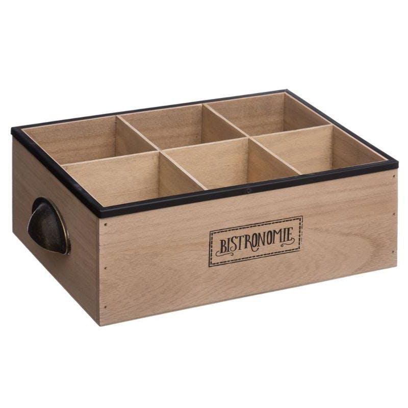 Range bouteilles casiers en bois 20x28x10cm
