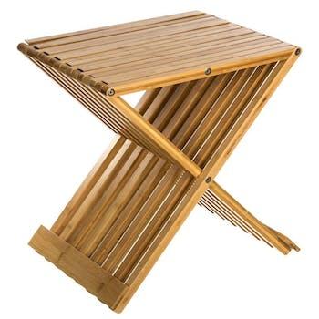 Tabouret pliant en bambou