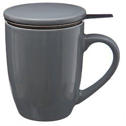 Tisanière en faïence coloris gris 32cl