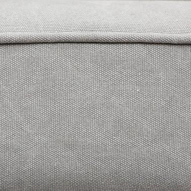 Fauteuil esprit scandinave gris clair pieds métal 52x59x71cm