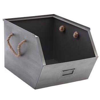 Casier en métal gris 23x32x20cm