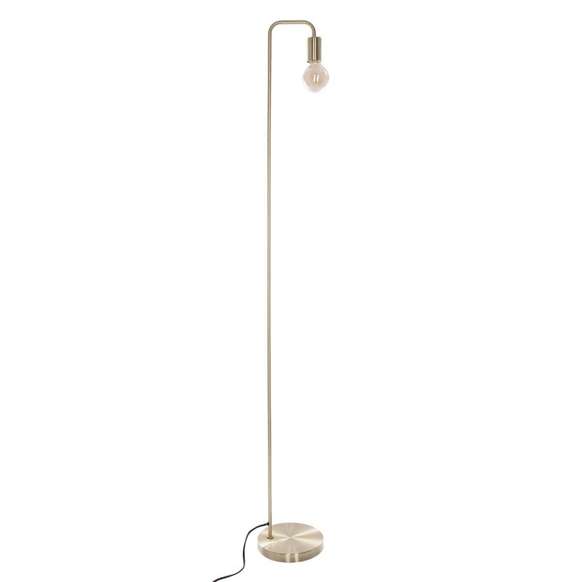 Lampadaire en métal couleur dorée H150xD20cm
