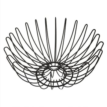 Corbeille en fil métal noir D35cm