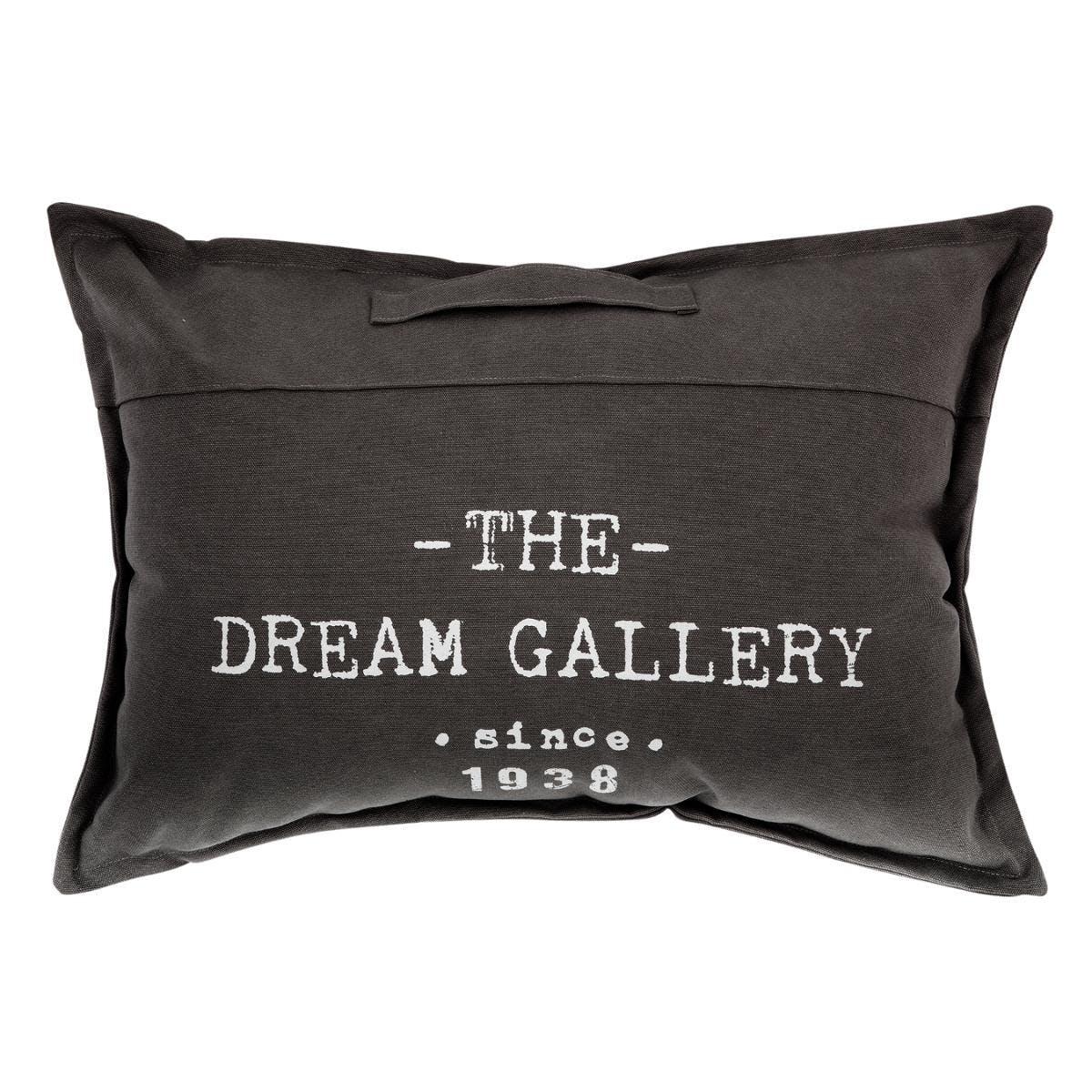 """Coussin de sol """"The Dream Gallery"""" avec poignée gris foncé 50x70cm"""
