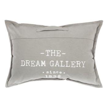 """Coussin de sol """"The Dream Gallery"""" avec poignée gris clair 50x70cm"""