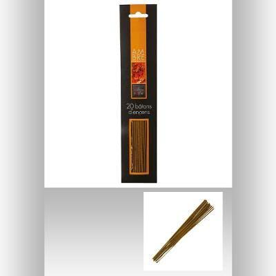 Bâtons d'encens x20 senteur ambre H25cm