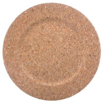 Assiette de présentation aspect liège D33cm