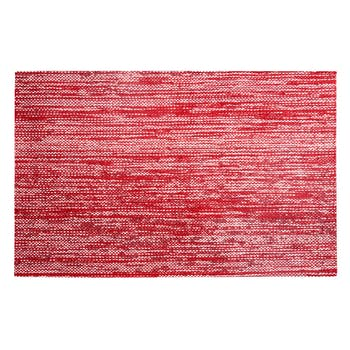 Set de table rectangulaire rouge 30x45cm