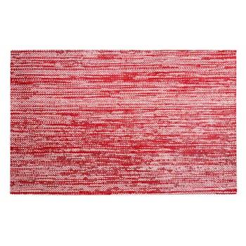Set de table rectangulaire rouge 30x45cm