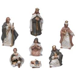Lot de 7 santons en porcelaine H12,5cm