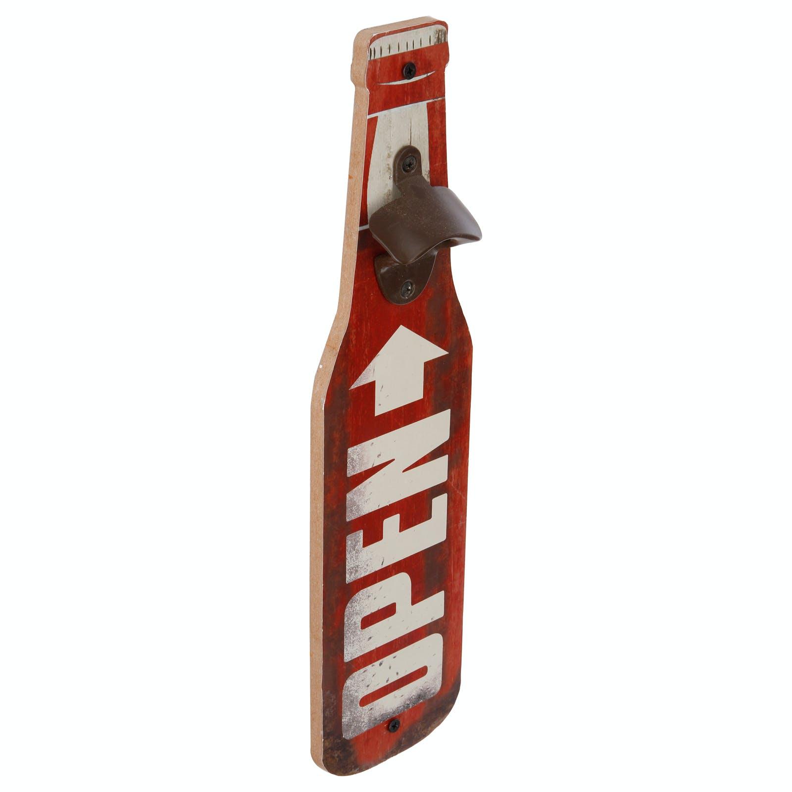 Décapsuleur forme Bouteille de bière rouge 40x10x4cm