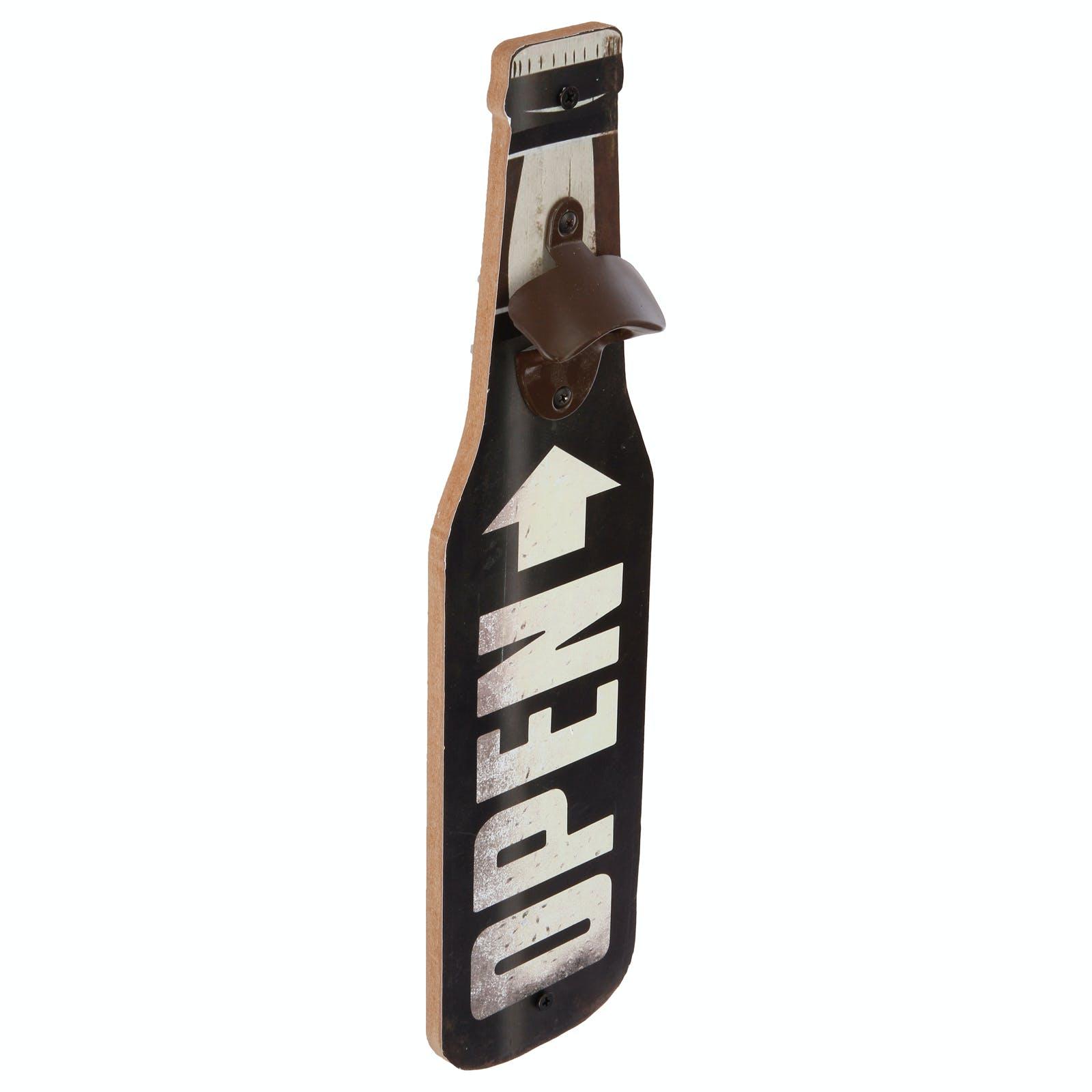 Décapsuleur forme Bouteille de bière noir 40x10x4cm