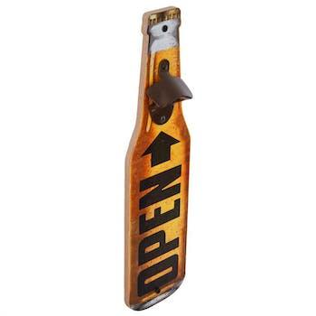 Décapsuleur forme Bouteille de bière jaune 40x10x4cm