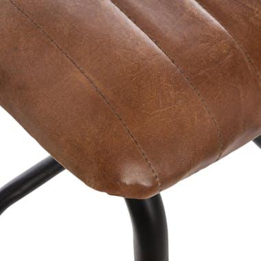 Lot de 2 tabourets de bar cuir marron réf. 30022044