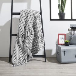 Plaid gris carreaux réf. 30022049